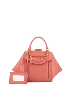 Balenciaga Giant Zip Traveler Extra-Small Backpack, Pink