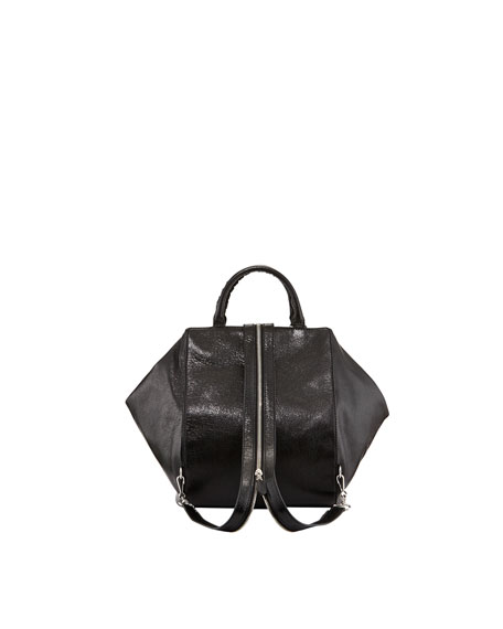 Giant Nickel Zip Traveler Backpack, Black
