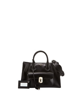 Balenciaga Padlock Works Extra-Small Tote Bag, Black