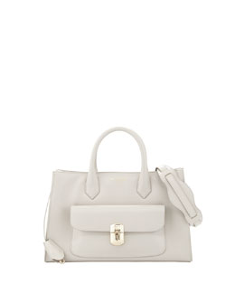 Balenciaga Padlock Works Extra-Small Tote Bag, Gray