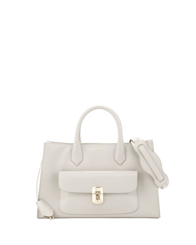 Balenciaga Padlock Works Tote Bag, Gray