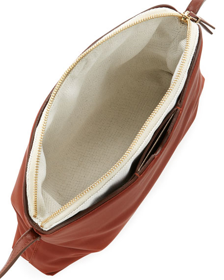 Multi-Pouch Crossbody Bag, Red/Brown