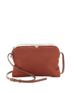 THE ROW Multi-Pouch Crossbody Bag, Red/Brown