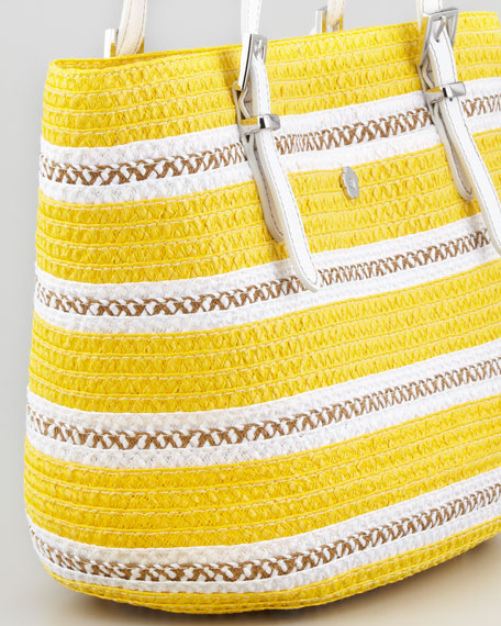 Jav Squishee Tote Bag, Yellow Mix