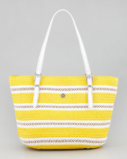 Eric Javits Jav Squishee Tote Bag, Yellow Mix