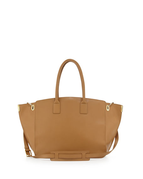 Jo Leather Tote Bag, Brown