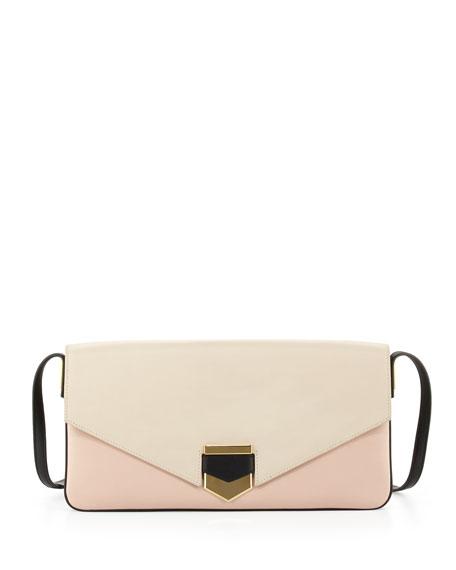 Vega Colorblock Shoulder Bag, Ivory