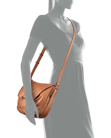 Gary Leather Crossbody Bag, Bronze