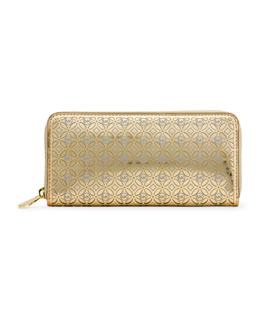 MICHAEL Michael Kors  Perforated Flower Zip-Around Wallet