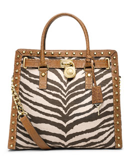 MICHAEL Michael Kors  Large Hamilton Pickstitch Studded Tote