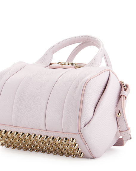 Rockie Small Crossbody Satchel Bag, Gummy Pink