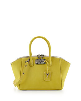 VBH Brera 26 Mini Calfskin Satchel Bag, Yellow