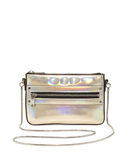 Milly Demi Hologram Mini Crossbody Bag, Champagne