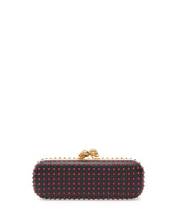 Alexander McQueen Bicolor Twin-Skull Box Clutch Bag, Red/Black