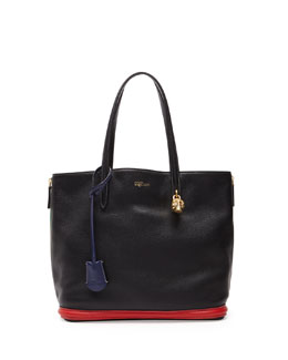 Alexander McQueen Padlock Small Shopper Bag, Multicolor