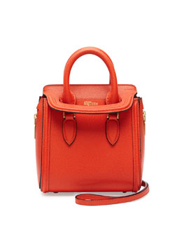 Alexander McQueen Heroine Mini Satchel Bag, Orange