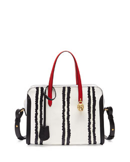 Alexander McQueen Small Padlock Snake Zip-Around Tote Bag
