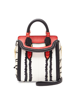 Alexander McQueen Heroine Mini Snake Satchel Bag, Multi Colors
