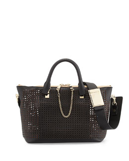 Chloe Baylee Perforated Shoulder Bag, Black