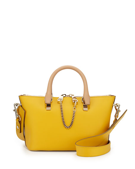 Baylee Mini Shoulder Bag, Yellow/Brown