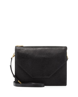 Eric Javits Kirsten Pebbled Crossbody Bag, Black