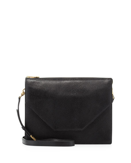 Kirsten Pebbled Crossbody Bag, Black