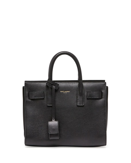 Saint Laurent Sac de Jour Nano Crossbody Bag, Black