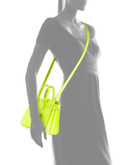 Sac de Jour Mini Crossbody Bag, Neon Yellow