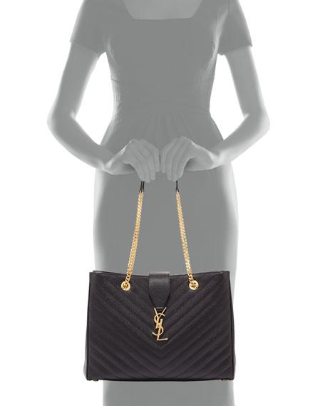 Monogramme Chain-Strap Shopper Bag, Black