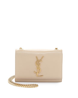Saint Laurent Monogramme Leather Crossbody Bag, Cream