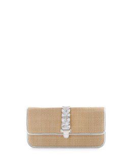 Cole Haan Bedford Izzie Clutch Bag, Argento