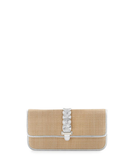 Bedford Izzie Clutch Bag, Argento