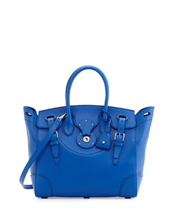 Ralph Lauren Soft Ricky 33 Soft Calfskin Satchel Bag, Royal