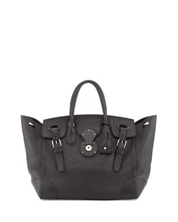 Ralph Lauren Soft Ricky 33 Soft Calfskin Satchel Bag, Black