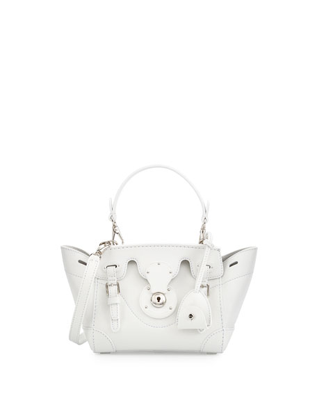 Ralph Lauren Soft Ricky 18 Crossbody Bag, White