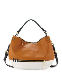 Oryany Olivia Colorblock Zip Hobo Bag