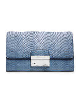 Michael Kors  Gia Snake-Embossed Clutch