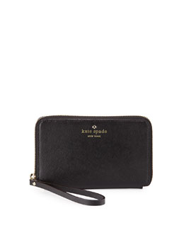 kate spade new york cherry lane laurie wristlet wallet, black