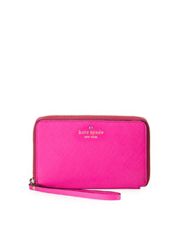 kate spade new york cherry lane laurie wristlet wallet, vivid snapdragon