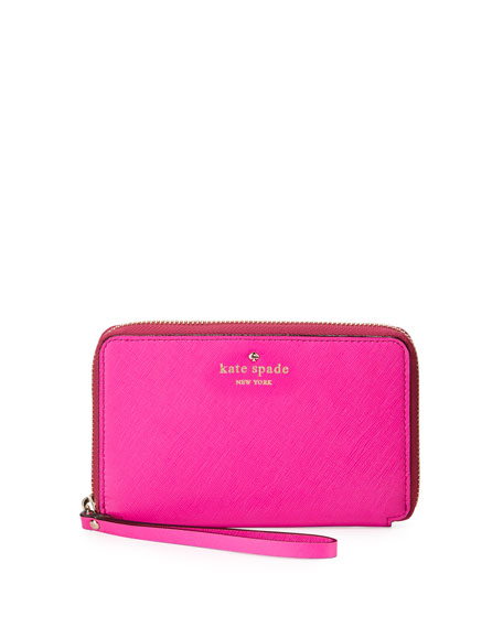 cherry lane laurie wristlet wallet, vivid snapdragon