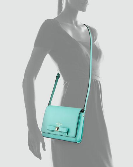 kate spade new york holly street rubie crossbody bag, giverny blue