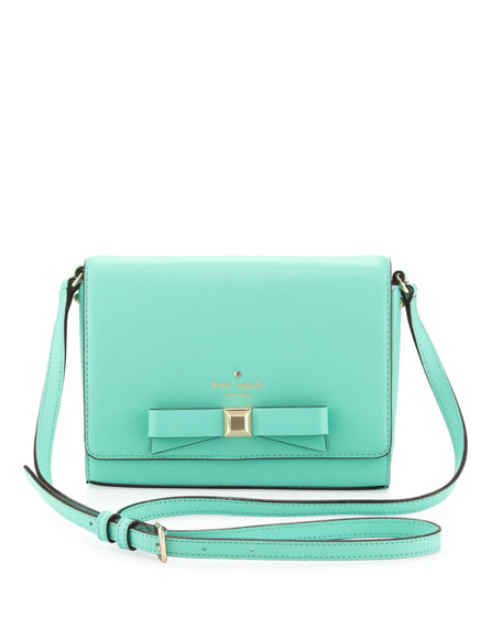 holly street rubie crossbody bag, giverny blue