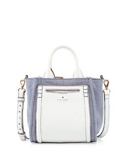 kate spade new york claremont drive small marcella tote bag, resort denim