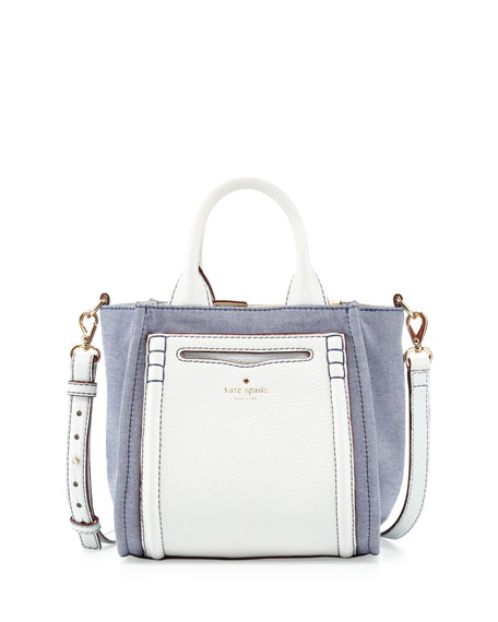claremont drive small marcella tote bag, resort denim