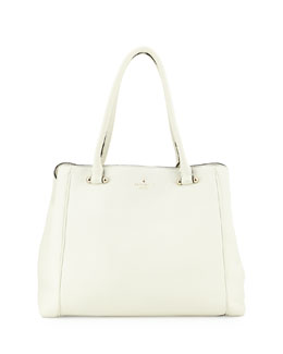 kate spade new york charles street leather tote bag, cream