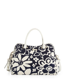 kate spade new york charles street audrey floral-print tote bag, french navy