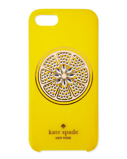 kate spade new york resin sparkle lemon iphone 5 case, yellow