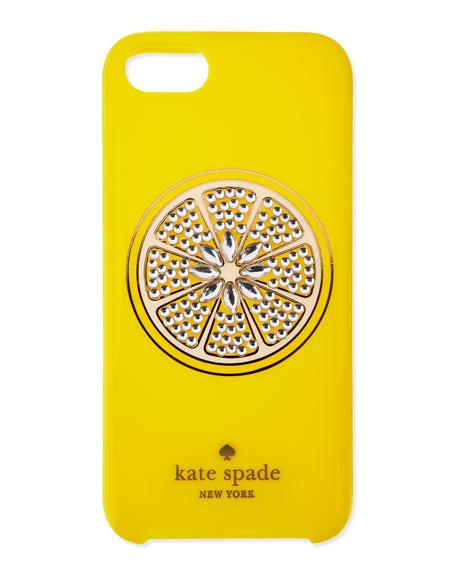 resin sparkle lemon iphone 5 case, yellow