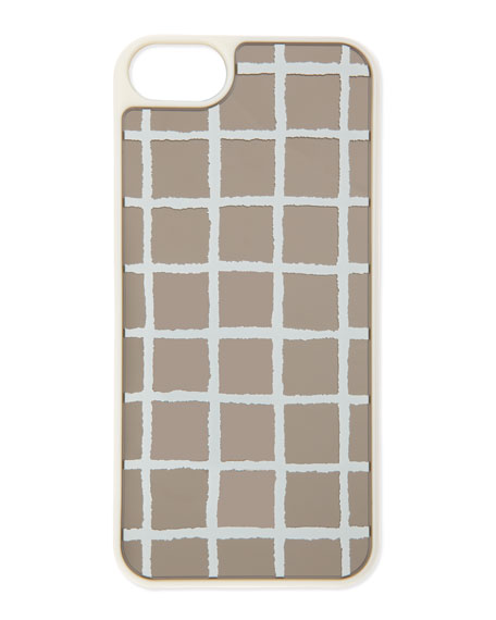 resin painterly check iphone 5 case, mirror