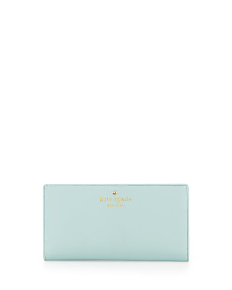 cobble hill leather stacy wallet, grace blue